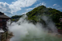 Sulfur Spring. In Beppu, Japan stock photography