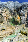 Sulfur Spring near Pangururan. Royalty Free Stock Photography