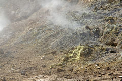 Sulfur steam Stock Photo