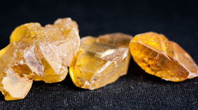 Sulfur or sulphur crystals Royalty Free Stock Images