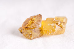 Sulfur or sulphur crystals Royalty Free Stock Image