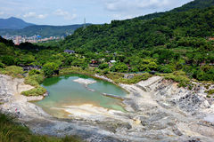 Sulfur Valley. In Yangmingshan National Park Stock Photography