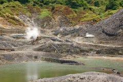 Sulfur Valley. In Yangmingshan National Park Stock Photo