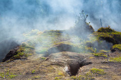 Sulfur vents fumes Royalty Free Stock Images