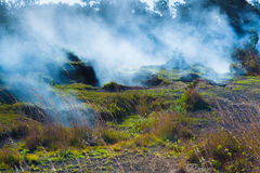 Sulfur vents fumes Royalty Free Stock Photos
