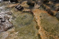 Sulfur waters. Royalty Free Stock Images