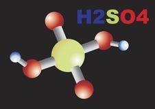 Sulfuric acid. Illustration of a sulfuric acid molecule Stock Photography
