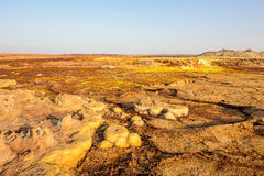 Sulfuric acid pools in Dallol in Ethiopia Royalty Free Stock Images