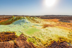 Sulfuric acid pools in Dallol in Ethiopia Stock Photography