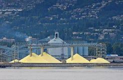 Sulfuro que se expidirá fuera del acceso de Vancouver fotografía de archivo