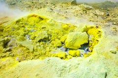 Sulfurous fumaroles stock photos