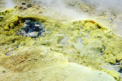 Sulfurous fumaroles, Vulcano island, Lipari, Sicily, Italy stock photography