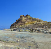 Sulfurous resort in Vulcano, Lipai, Sicily, Italy Royalty Free Stock Photos