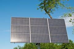 Sulight réfléchissant sur le panneau solaire Photos libres de droits