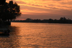Sulina, место куда Дунай идет внутри к Чёрному морю Стоковые Фото