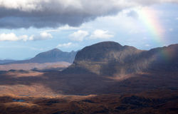 Suliven and Quinag in the Scottish Highlands Royalty Free Stock Images