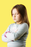 Sulk little girl Royalty Free Stock Photography