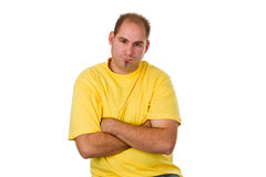 Sulk man Stock Photography