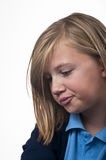 Sulking child Stock Image