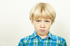 Sulking child Royalty Free Stock Images
