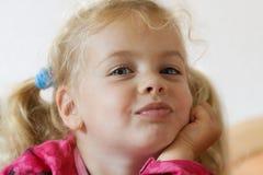 Sulking girl Stock Image
