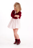 Sulking little girl Stock Photography