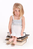 Sulking little girl in her nightie Royalty Free Stock Photography