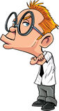 Sulking nerd άτομο κινούμενων σχεδίων Στοκ εικόνα με δικαίωμα ελεύθερης χρήσης