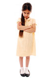 Sulking schoolgirl Stock Photos