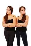 Sulking Schwestern Lizenzfreie Stockfotografie