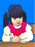 Sulking toddler Stock Image