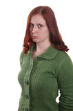 Sulking woman Royalty Free Stock Image