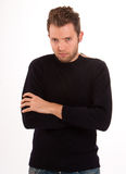 Sulking young man Stock Photo