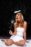 Sulky angel Stock Image