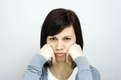 Sulky girl Stock Photo
