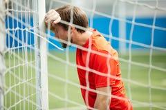 Young goalkeeper stock photos