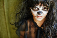 Sulky Halloween girl Royalty Free Stock Image