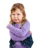 Sulky little girl Royalty Free Stock Photos