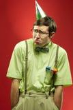 Sulky nerd Royalty Free Stock Photos
