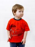 Sulky preschool boy Stock Image