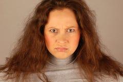 Sulky woman Royalty Free Stock Photos