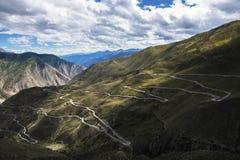 72 sull'abduzione della strada principale del Sichuan-Tibet Immagine Stock