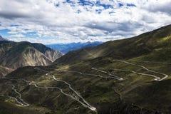 72 sull'abduzione della strada principale del Sichuan-Tibet Fotografia Stock Libera da Diritti