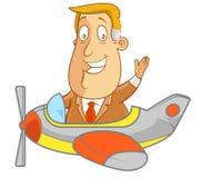 Sull'aereo Fotografie Stock Libere da Diritti
