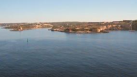 Sull'entrata al fiordo Mahon, Minorca, Spagna video d archivio