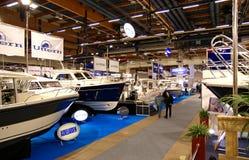 Sull'esposizione 2009 della barca di Helsinki Fotografie Stock