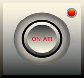 Sull'icona della radio dell'aria Immagine Stock Libera da Diritti