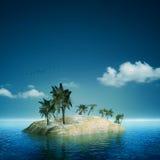 Sull'isola. Immagine Stock