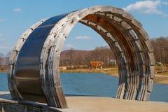 Sulla banca del lago Fotografia Stock Libera da Diritti