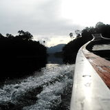 Sulla barca Fotografie Stock